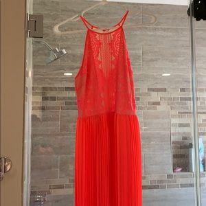 Floor length Lush brand name coral dress